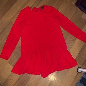 Flapper like short red dress
